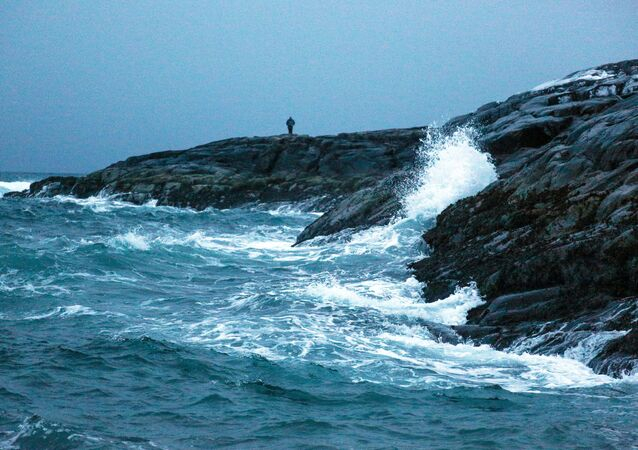 Wybrzeże Morza Barentsa na Półwyspie Kolskim.