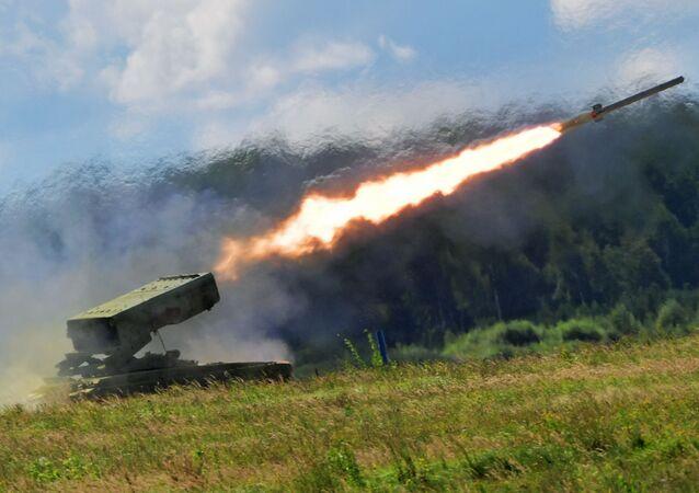 "Ciężki miotacz ognia TOS-1A ""Sołncepiok"""
