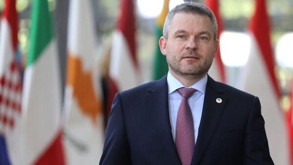 Premier Słowacji Peter Pellegrini - Sputnik Polska