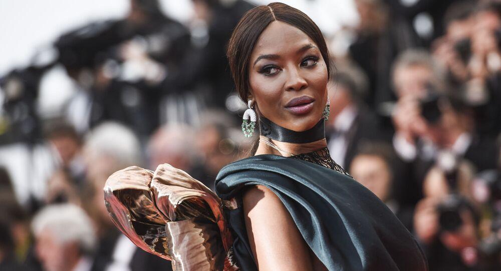 Brytyjska supermodelka i aktorka Naomi Campbell na czerwonym dywanie na 71. Festiwalu Filmowym w Cannes