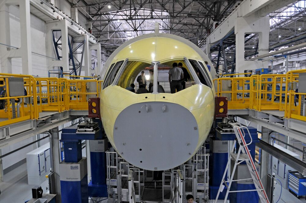 Montaż samolotu Irkut MS-21