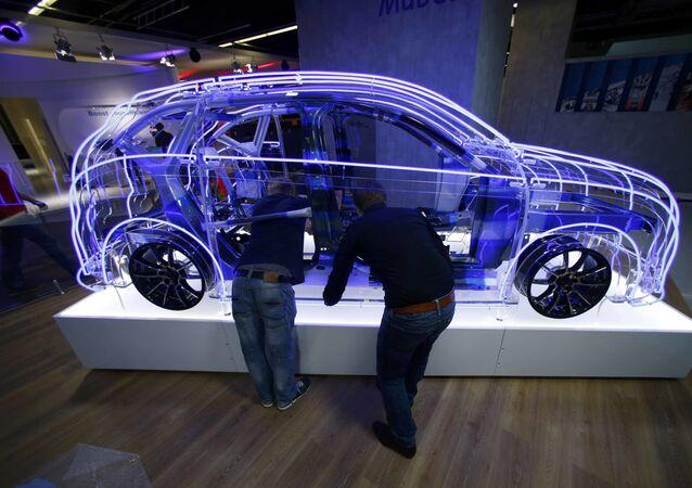 Przygotowania do wystawy motoryzacyjnej Internationale Automobil-Ausstellung - 2015 we Frankfurcie nad Menem