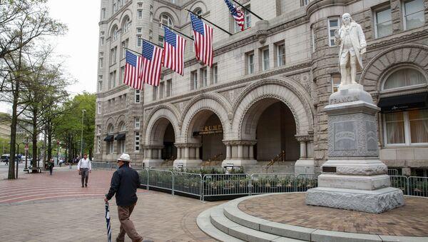 Trump International Hotel przed publikacją raportu Roberta Muellera w Waszyngtonie - Sputnik Polska