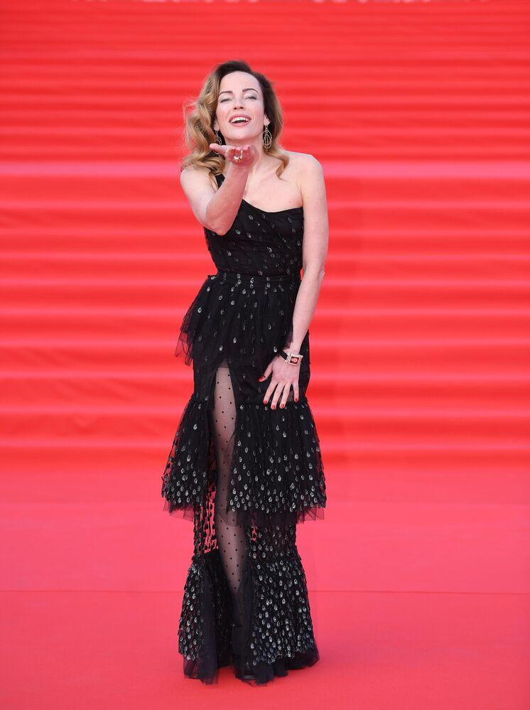 Olga Zajcewa na otwarciu Moskiewskiego Międzynarodowego Festiwalu Filmowego
