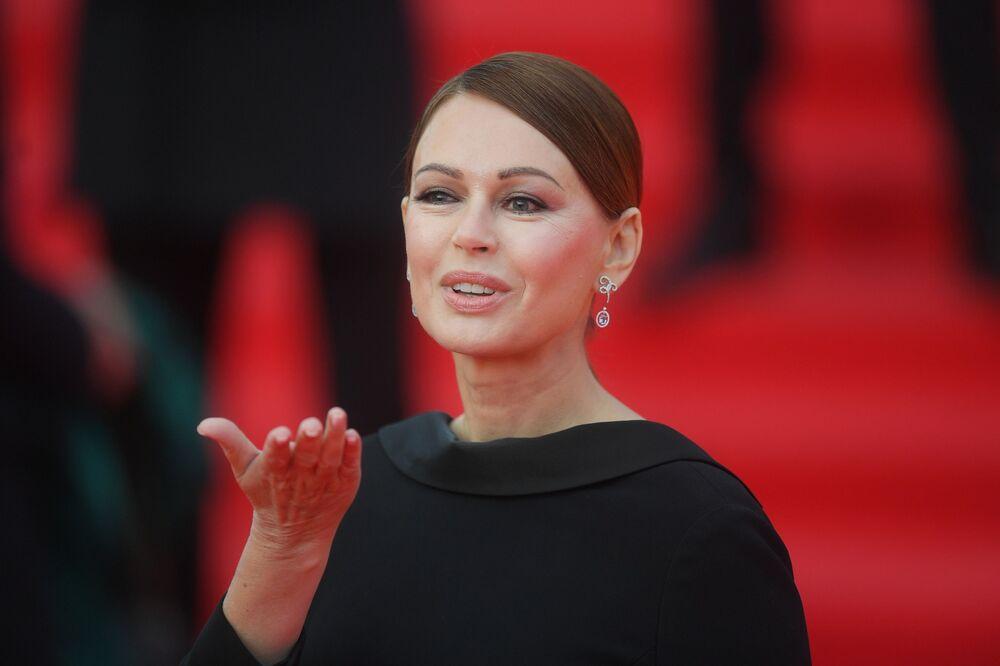 Aktorka Irina Bezrukova na otwarciu Moskiewskiego Międzynarodowego Festiwalu Filmowego