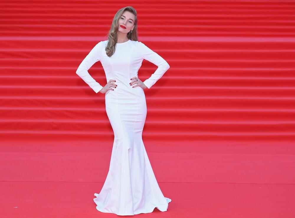 Aktorka Kristina Asmus na otwarciu Moskiewskiego Międzynarodowego Festiwalu Filmowego