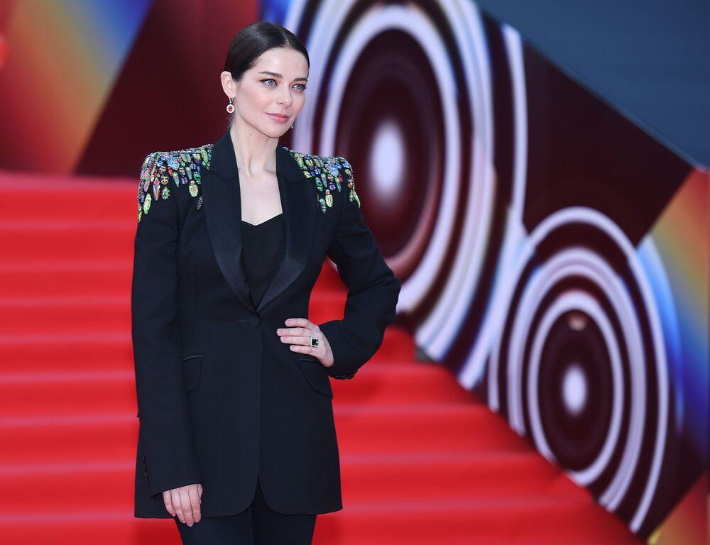Aktorka Marina Aleksandrowa na otwarciu Moskiewskiego Międzynarodowego Festiwalu Filmowego