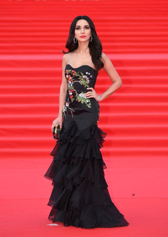 Piosenkarka Zara na otwarciu Moskiewskiego Międzynarodowego Festiwalu Filmowego