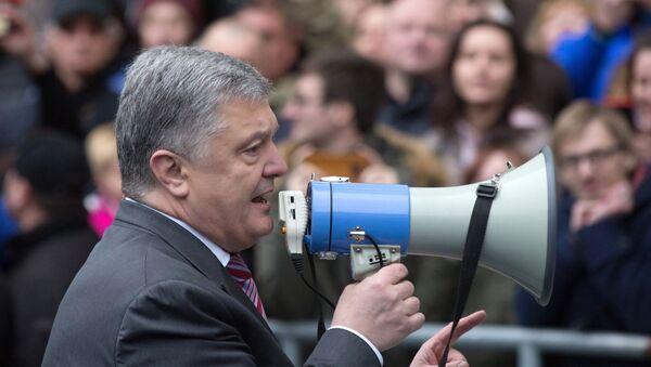 Petro Poroszenko na stadionie Olimpijski w Kijowie, 14.04.2019 r.  - Sputnik Polska
