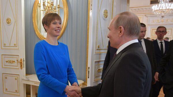 Prezydent Estonii Kersti Kaljulaid spotkała się z prezydentem Rosji Władimirem Putinem - Sputnik Polska