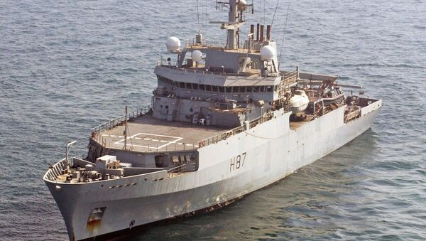 Brytyjski okręt rozpoznawczy HMS Echo H87 - Sputnik Polska