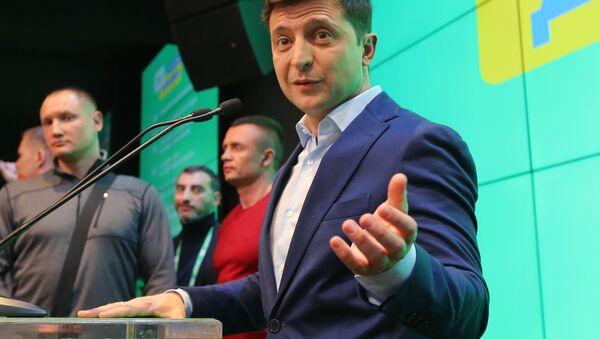 "Kandydat na prezydenta z partii ""Sługa narodu"" Wołodymyr Zełenski - Sputnik Polska"