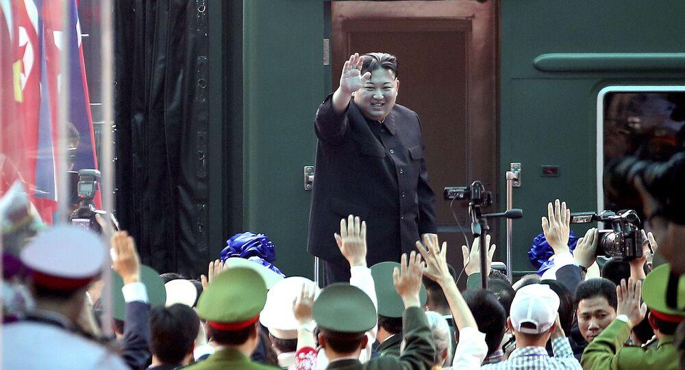 Kim Dzong Un podczas wizyty w Wietnamie