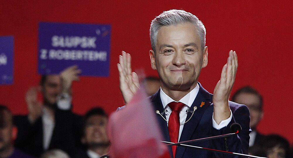 Lider polskiej partii Wiosna Robert Biedroń