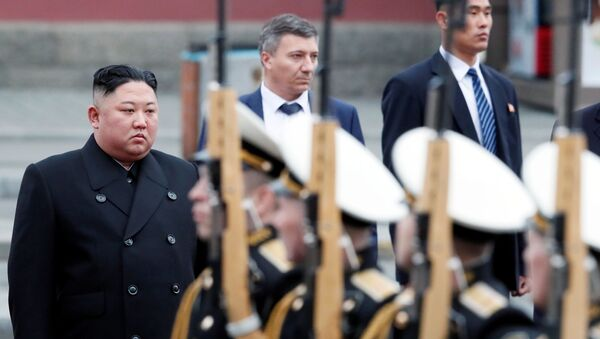 Przywódca Korei Północnej Kim Dzong Un, Władywostok - Sputnik Polska
