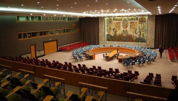 Sala posiedzeń Rady Bezpieczeństwa ONZ - Sputnik Polska