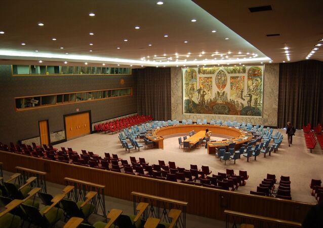 Sala posiedzeń Rady Bezpieczeństwa ONZ