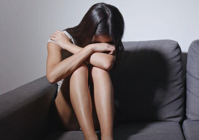 Płacząca kobieta