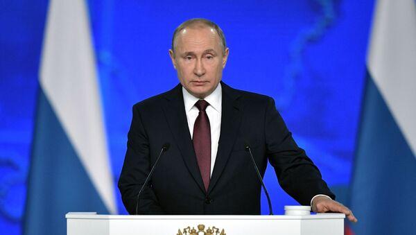 Prezydent Rosji Władimir Putin występuje z corocznym orędziem do Zgromadzenia Federalnego - Sputnik Polska