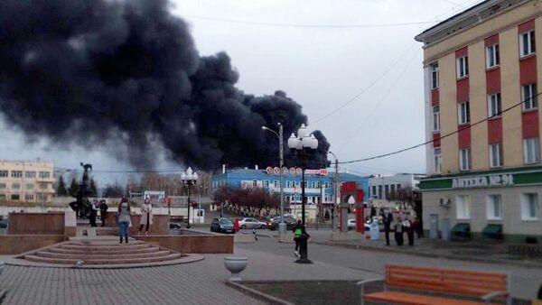 Pożar w zakładzie Krasmasz - Sputnik Polska