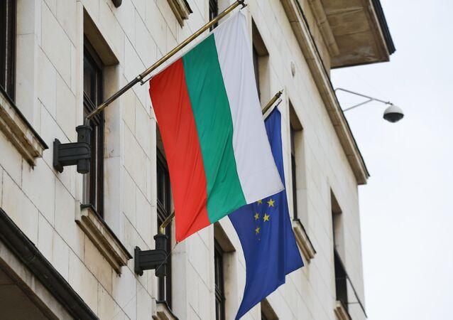 Flaga Bułgarii i UE