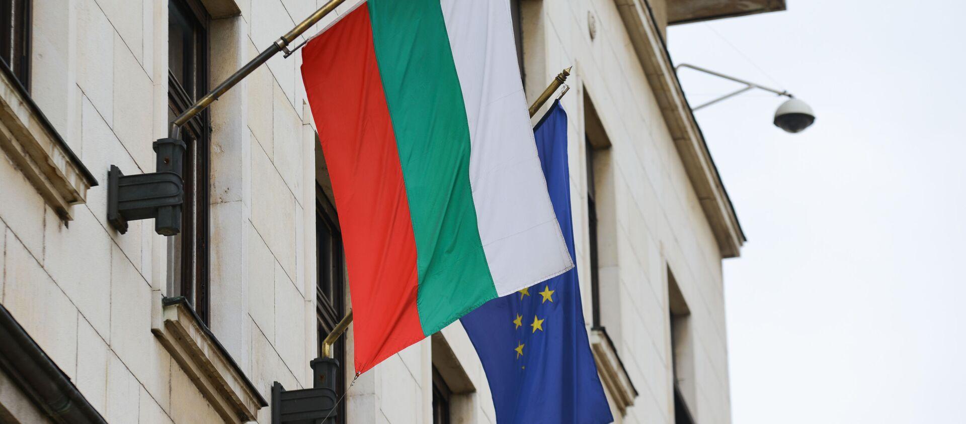 Flaga Bułgarii i UE - Sputnik Polska, 1920, 20.03.2021