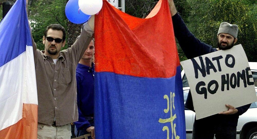Protesty przeciwko NATO w Jugosławii
