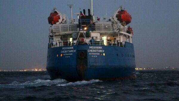 Zatrzymany w Trypolisie tankowiec pod rosyjską banderą - Sputnik Polska