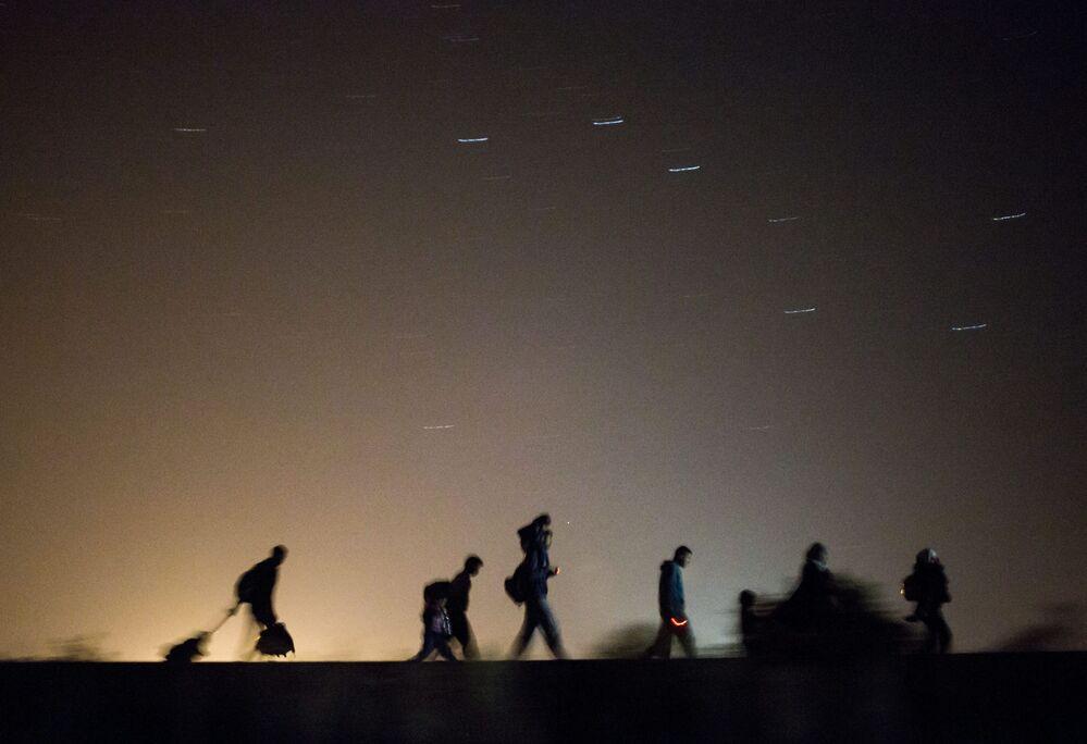 Migranci na serbsko-węgierskiej granicy
