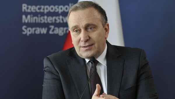 Minister spraw zagranicznych Polski Grzegorz Schetyna - Sputnik Polska