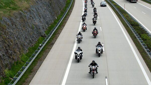 Uczestnicy rajdu zorganizowanego przez klub motocyklowy Nocne Wilki - Sputnik Polska