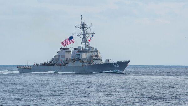 Amerykański niszczyciel USS Stethem  - Sputnik Polska