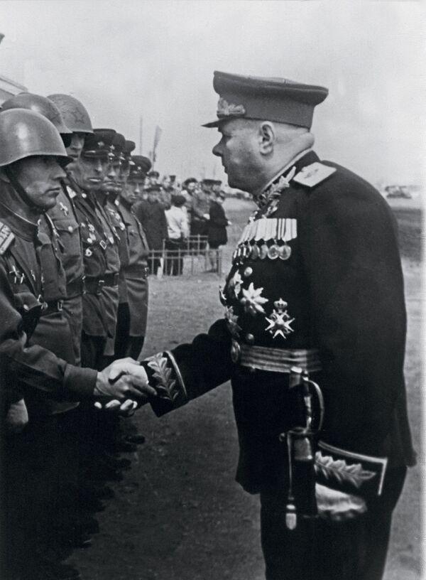 Kiriłł Afanasjewicz Mierieckow, radziecki dowódca wojskowy, marszałek Związku Radzieckiego - Sputnik Polska