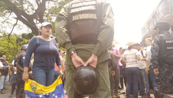Zamieszki na ulicach Caracas - Sputnik Polska