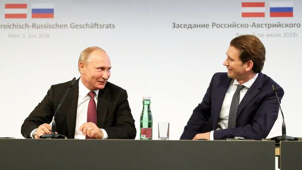 Władimir Putin i Sebastian Kurz - Sputnik Polska