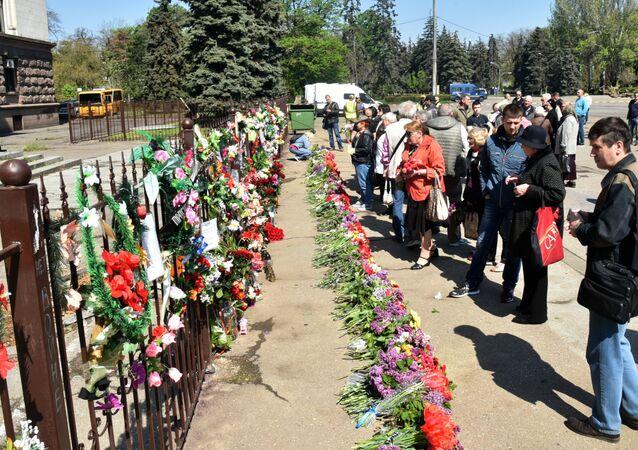 Piąta rocznica tragedii w Odessie, Ukraina