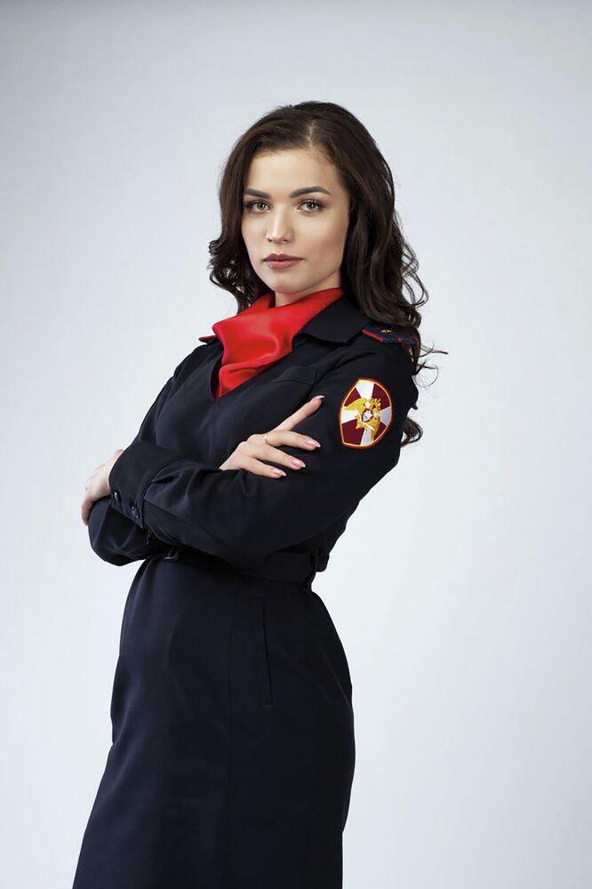Finalistka konkursu - podporucznik policji Anastazja Budiło z Omska