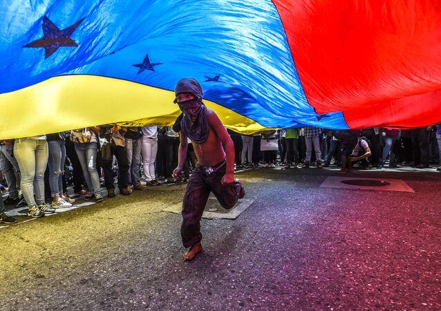 Protesty w Caracas