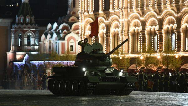 Próba przed paradą Zwycięstwa 9 maja. Plac Czerwony, Moskwa - Sputnik Polska