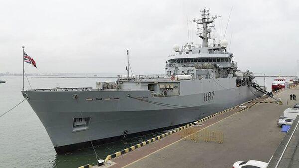 Hydrograficzny okręt Brytyjskiej Marynarki Wojennej ECHO w porcie Odessy - Sputnik Polska