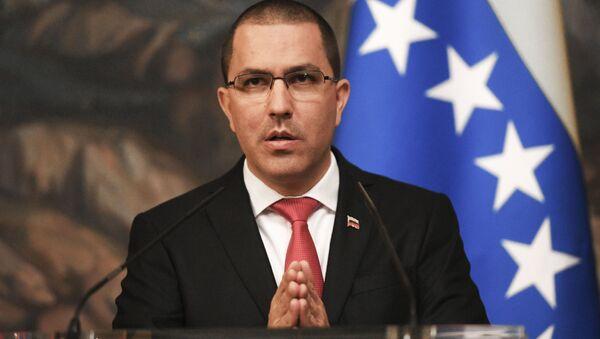 Szef wenezuelsiego Ministerstwa Spraw Zagranicznych Jorge Arreaza - Sputnik Polska