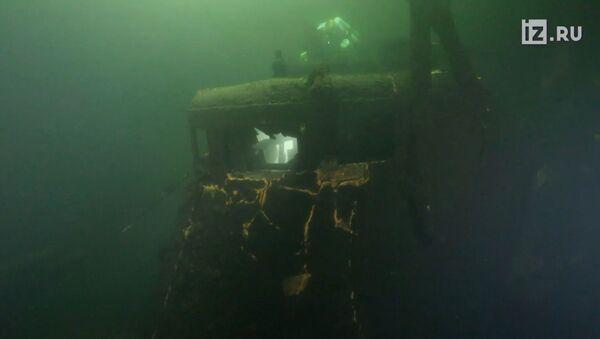 Kadry z nagrania okrętu podwodnego - Sputnik Polska