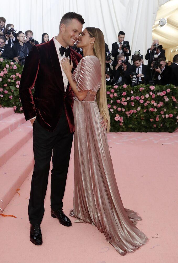 Gisele Bundchen z mężem Tomem Brady