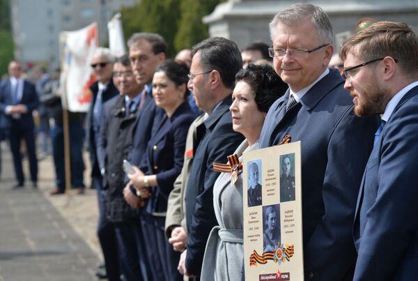 """Akcja """"Nieśmiertelny pułk"""" w Warszawie - Sputnik Polska"""