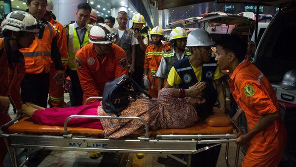 Samolot bangladeskiej linii lotniczej Biman rozbił się w porcie lotniczym Mjanmy - Sputnik Polska