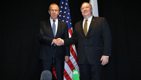 Szef rosyjskiej dyplomacji Siergiej Ławrow i Sekretarz stanu Stanów Zjednoczonych Mike Pompeo - Sputnik Polska