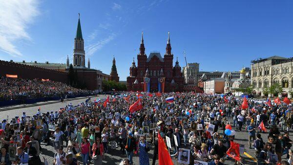 """""""Nieśmiertelny Pułk""""  w Moskwie  - Sputnik Polska"""