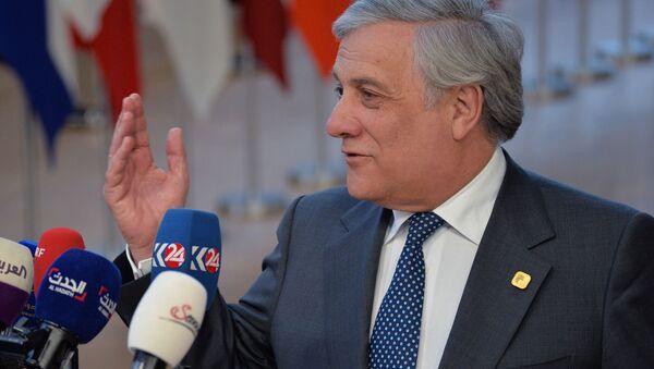 Przewodniczący Parlamentu Europejskiego Antonio Tajani - Sputnik Polska