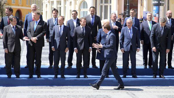 Przywódcy krajów UE na szczycie w Sibiu w Rumunii - Sputnik Polska