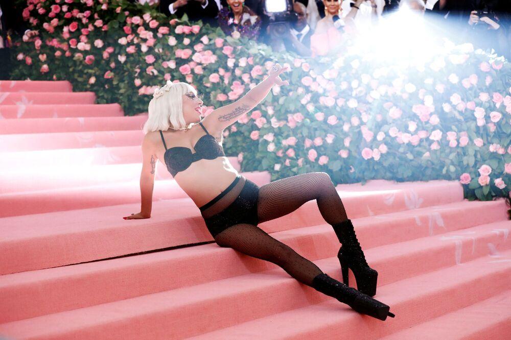 Piosenkarka i aktorka Lady Gaga na Met Gala 2019 w Nowym Jorku.